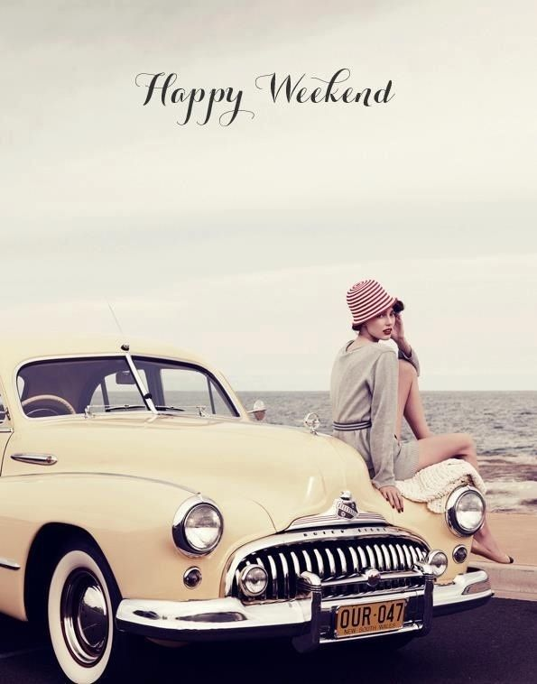 Happy Weekend Girl Car Weekend Weekend Quotes Happy Weekend Its The Weekend Happy Weekend Quotes Retro Cars Vintage Cars Classic Cars