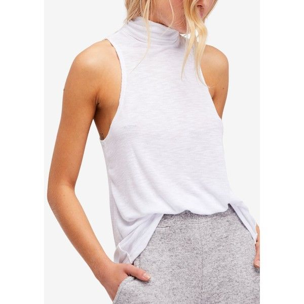 7ff84a6c7284a1 Free People Topanga Sleeveless Turtleneck Top ( 20) ❤ liked on Polyvore  featuring tops