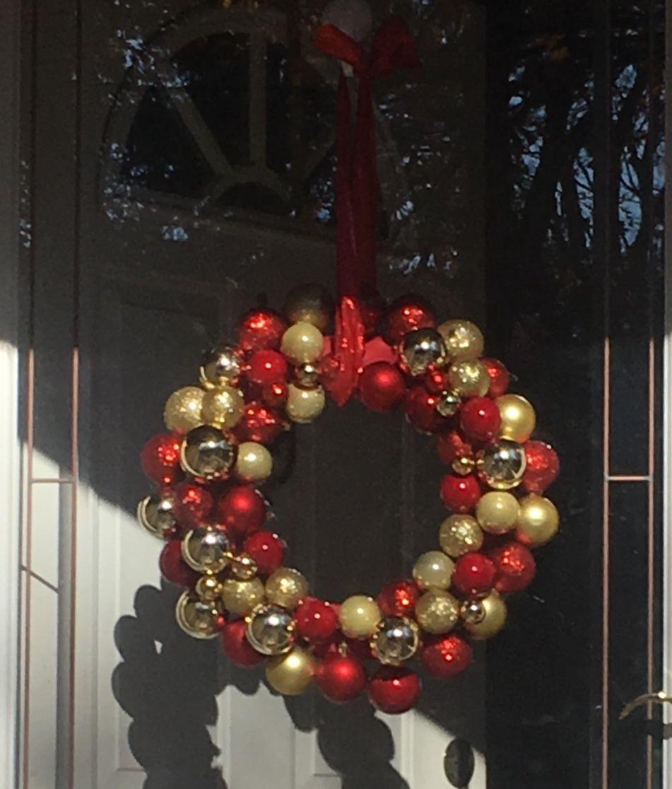 Diy Ornament Wreath Using Dollar Store Wire Wreath Frame Wire