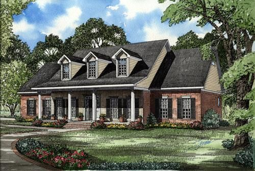 House Plan 110 00017 Traditional Plan 2 698 Square Feet 5 Bedrooms 3 Bathrooms Country Style House Plans Colonial House Plans Country House Plans