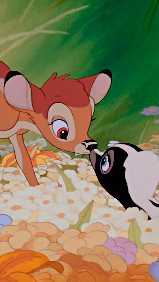 Walt disneys bambi and flower! disneylove sfondi cartoni