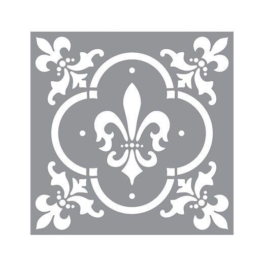 Americana Decor Stencil 12x12 Fleur De Lis Tile Ads04 Stencil Decor Stencils Wall Americana Decor