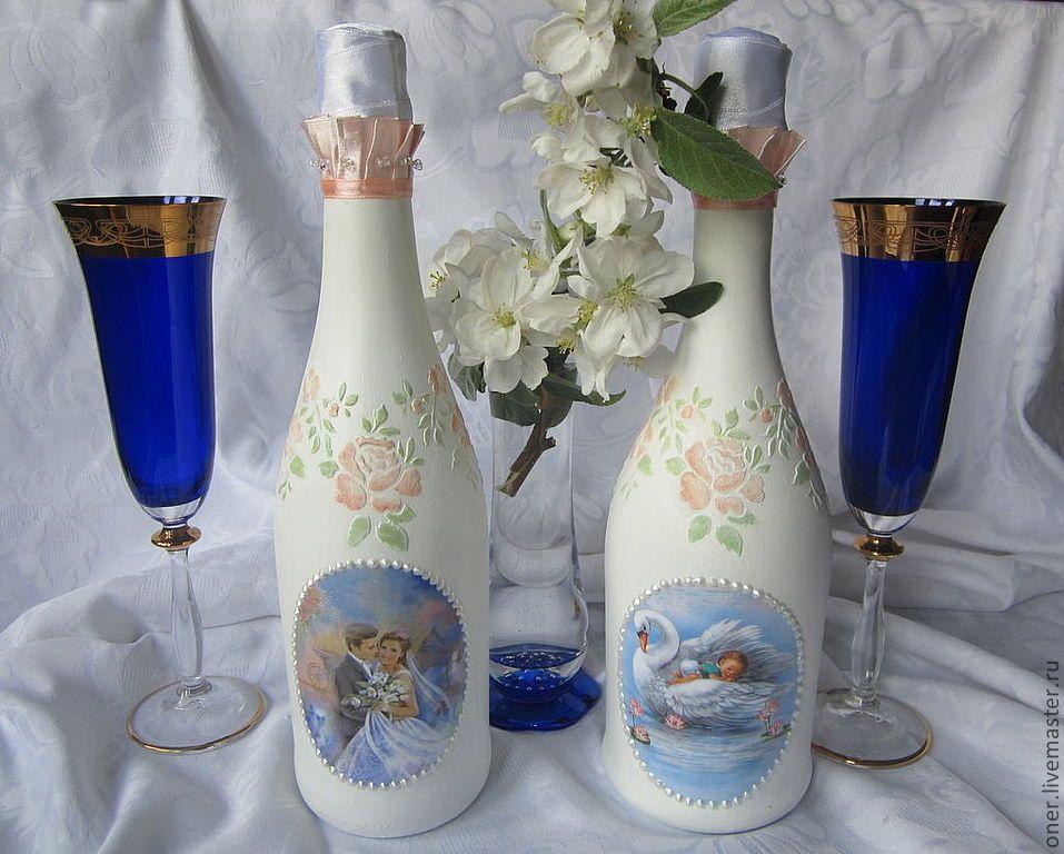 Картинки декупаж бутылок и бокалов