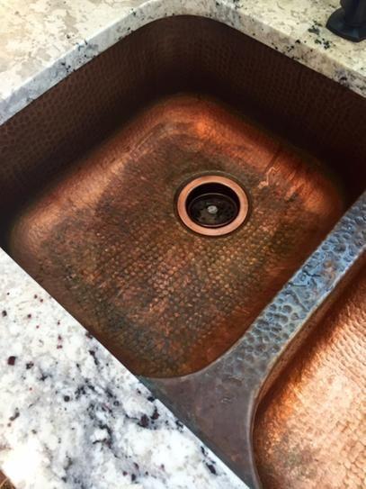SINKOLOGY Kandinsky Undermount Solid Copper 32 In. 50/50