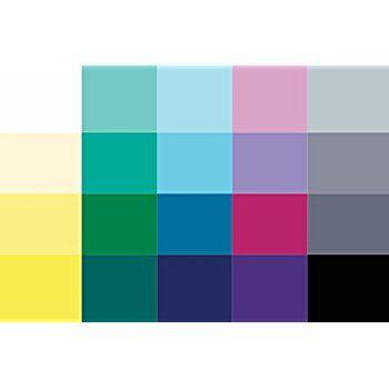 Kleiner Farbpass Wintertyp 20 Farben Farbkarte Winter Winterfarben