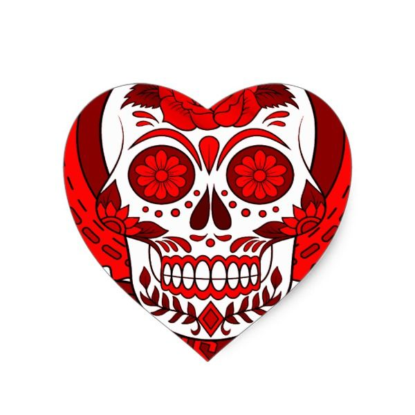 Best seller sugar skull heart sticker halloween holiday creepyhollow stickers