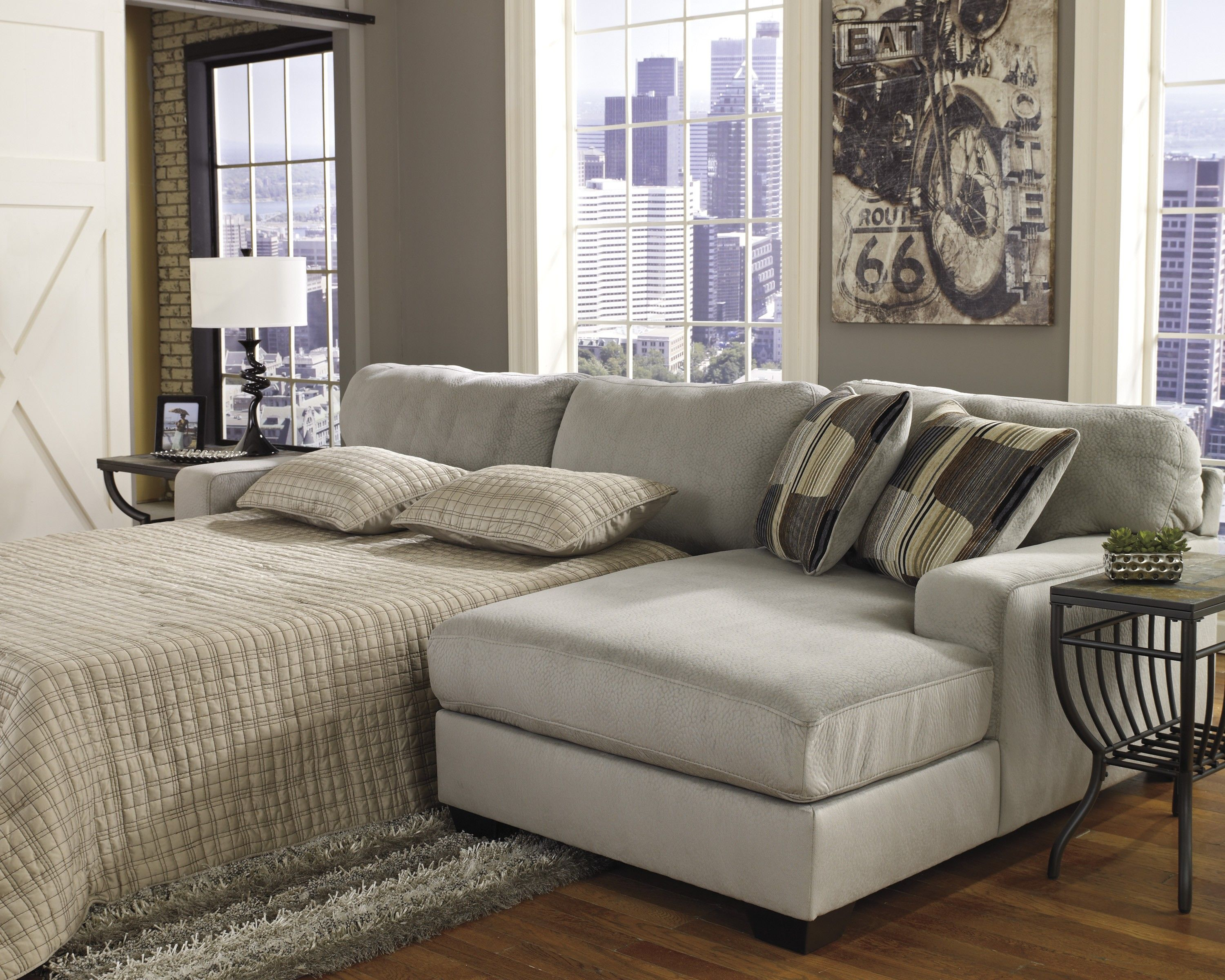 furniture sleeper by sectional transitional sofa dreamquest products with chaise piece mattress