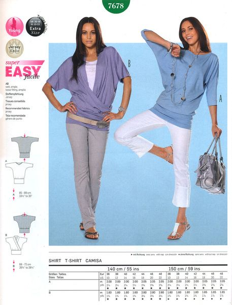 7678 Shirt - Kimono-Stil; Fledermaus-Shirt von FeenKind-creativ auf ...