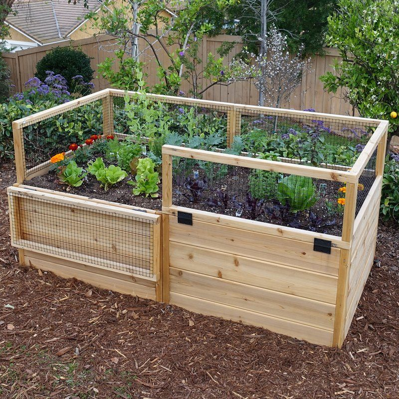 6 ft x 3 ft Cedar Raised Garden Bed Raised garden bed