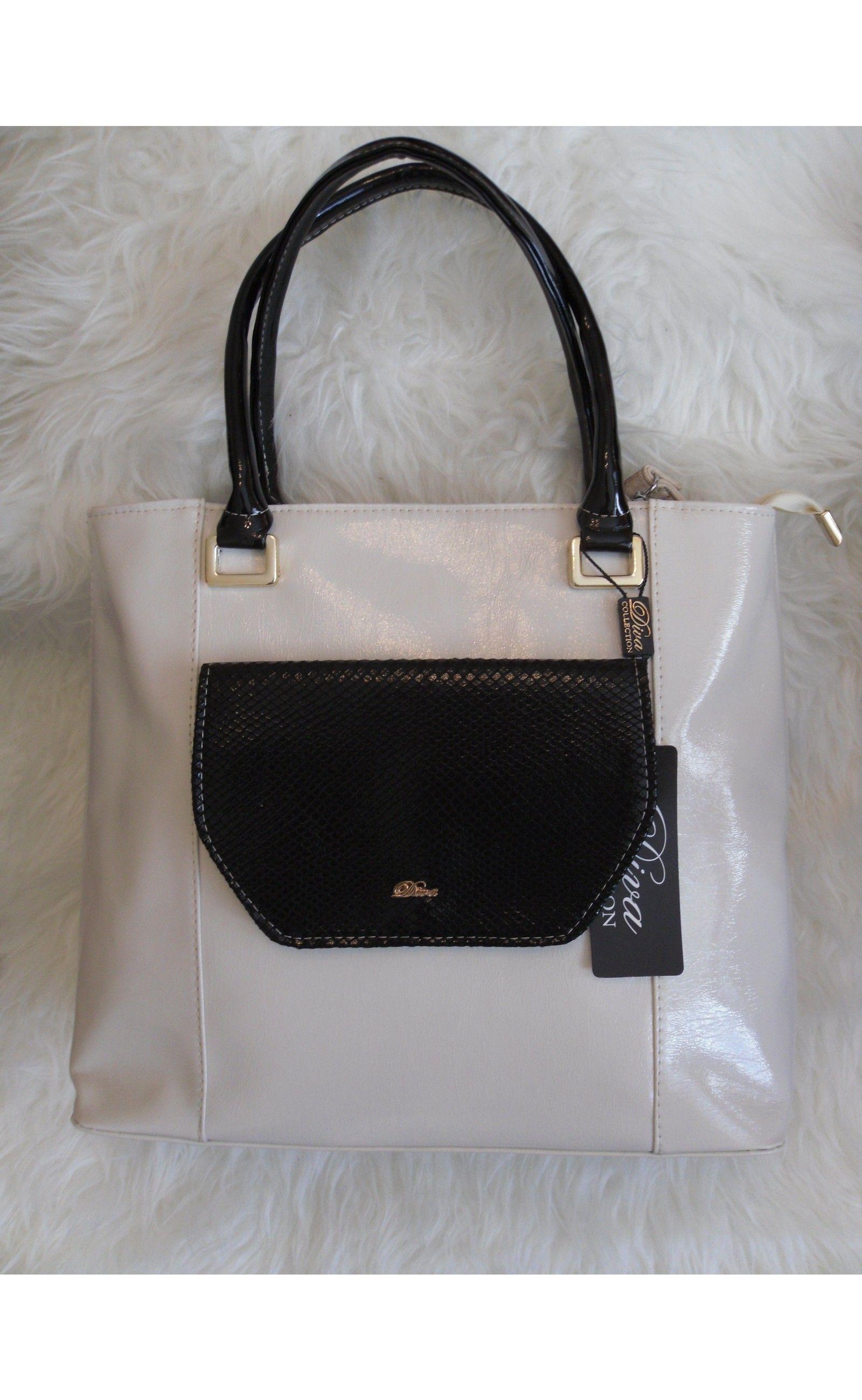 2870e28543e9 Vajszínű táska fekete betéttel, válltáska, kézitáska, nyári táska - Táskák  - Női Ruha Webáruház, Alkalmi ruha webshop tunika, Felső