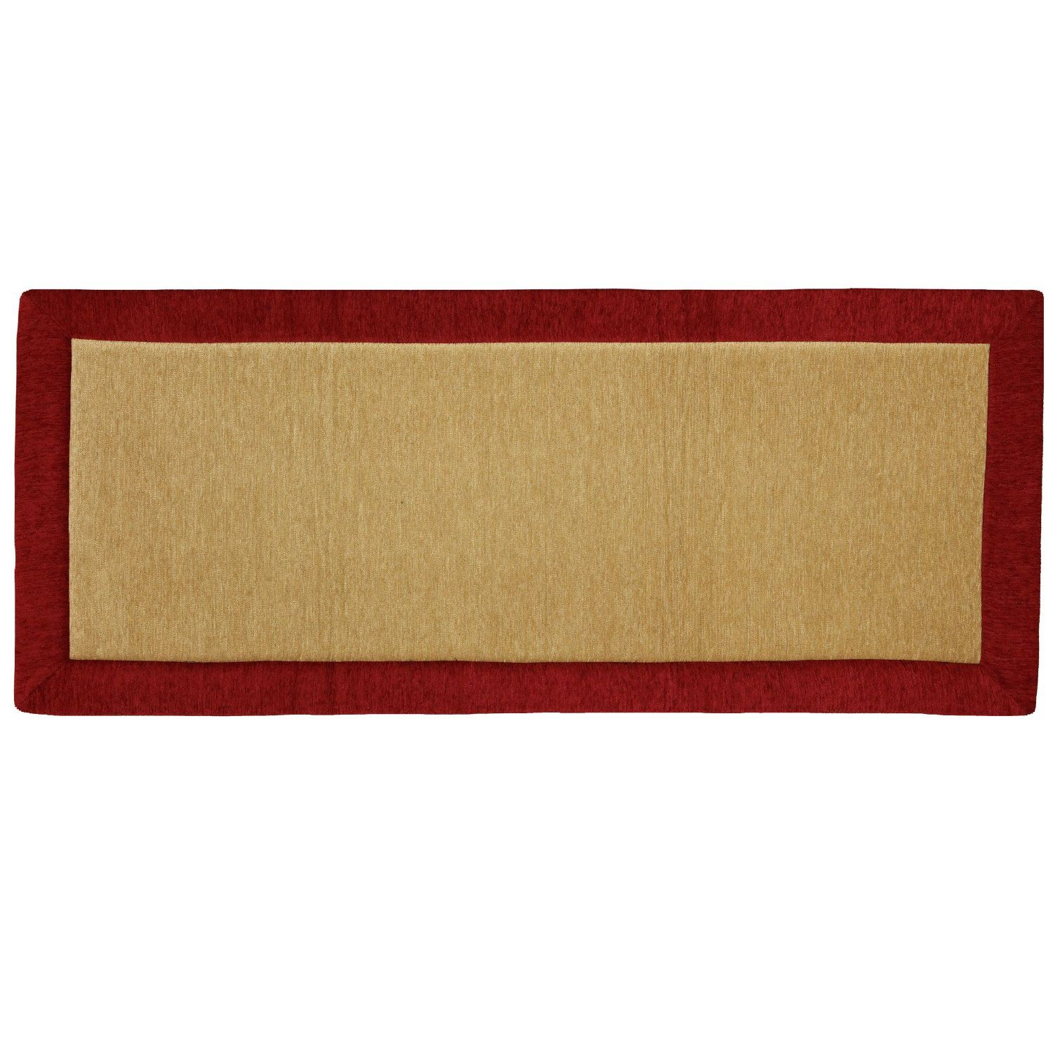 Solid Chenille Memory Foam Kitchen Rug Red 20 Inch