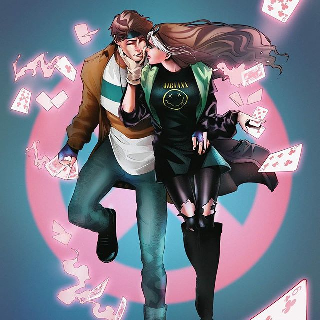 Hey Rogue X Gambit Couple Artwork In Casual Here This Is My First X Men Couple Commission I Had So Much Fun While Drawing Couple Artwork Rogue Gambit Rogues