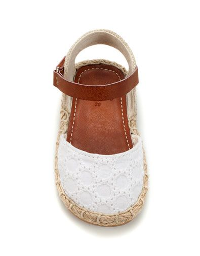 850f56e5570d jute and crochet sandal - Shoes - Baby girl (3-36 months) - Kids - ZARA