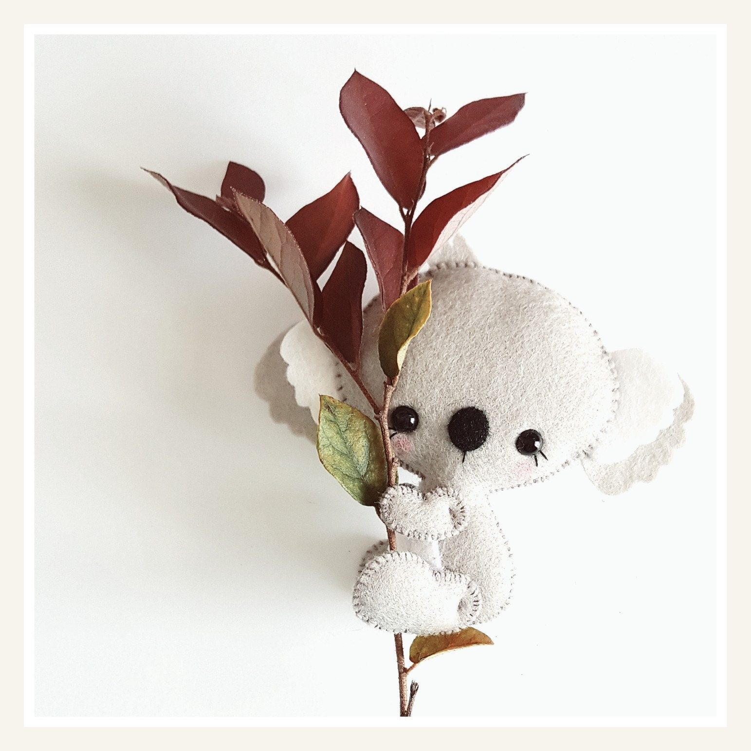 Say hello to Baby Koala!   KEÇE   Pinterest   Fieltro, Animales de ...