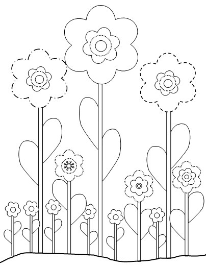 Flower Printable coloring pages.. print enough for Peityn