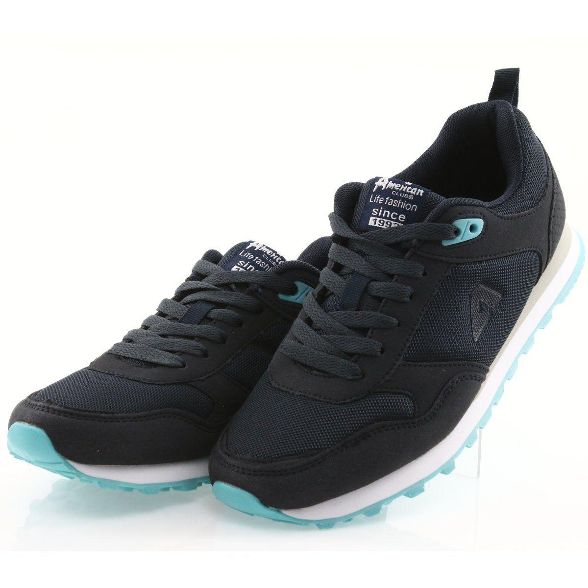Sportowe Damskie Americanclub Buty Sportowe American Club Wt26 Granatowe Sports Shoes Shoes Women Shoes