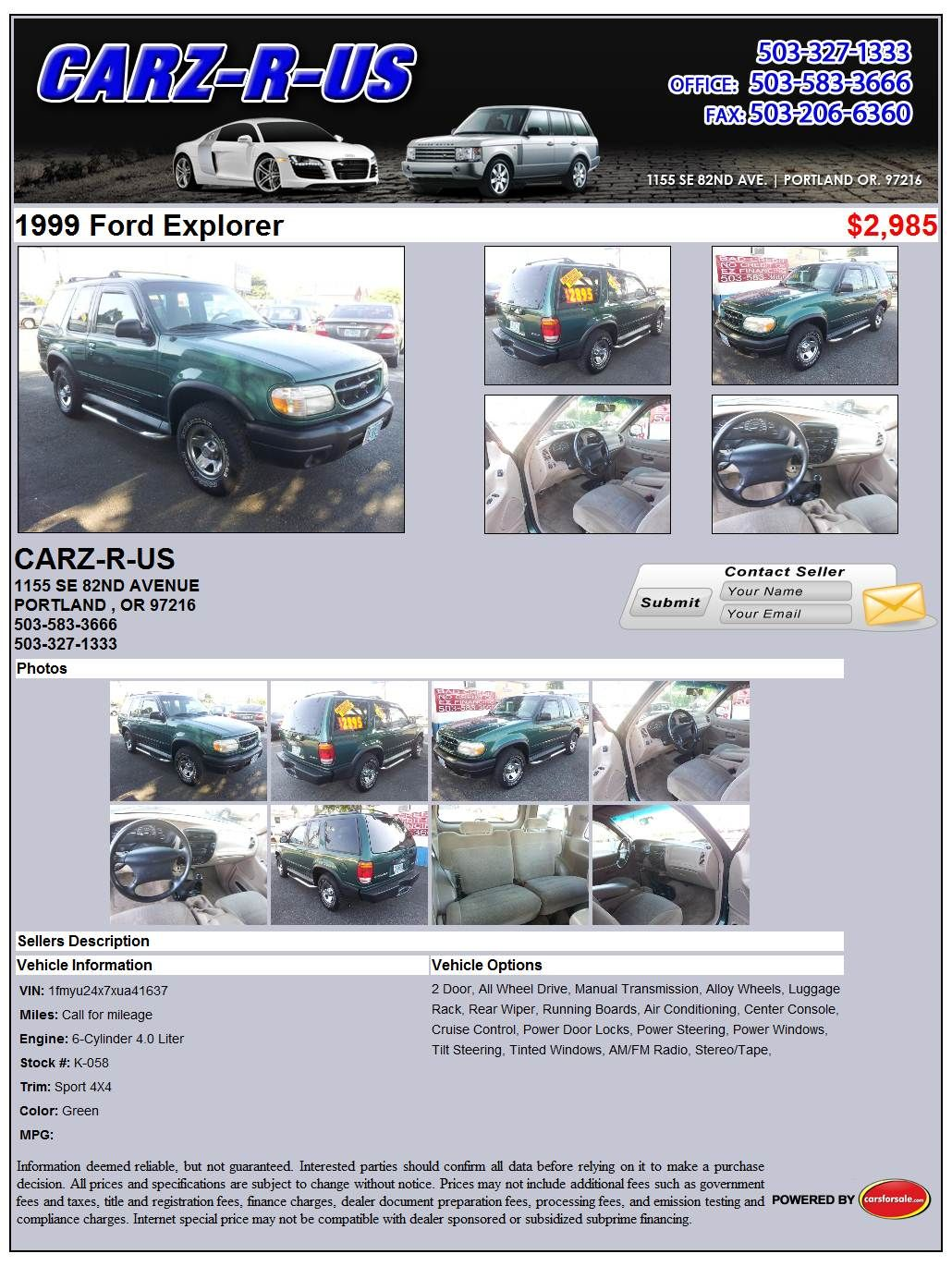 ford explorer 99 manual