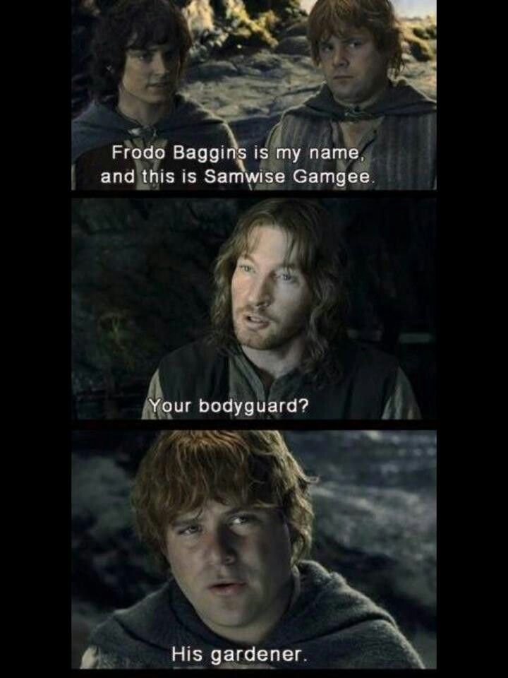 WRONG. The most important character, I am, Faramir. Don't be disrespecting