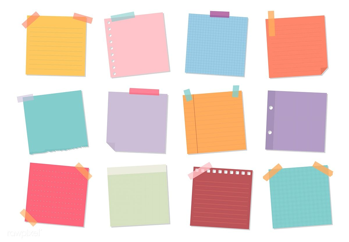 Collection Of Sticky Note Illustrations Free Image By Rawpixel