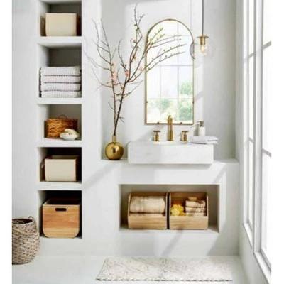 the neutral modern bathroom organization collection