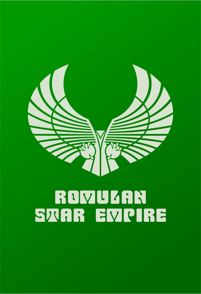 Star Trek Logo Romulan Star Empire Flat Design | Star Trek ...