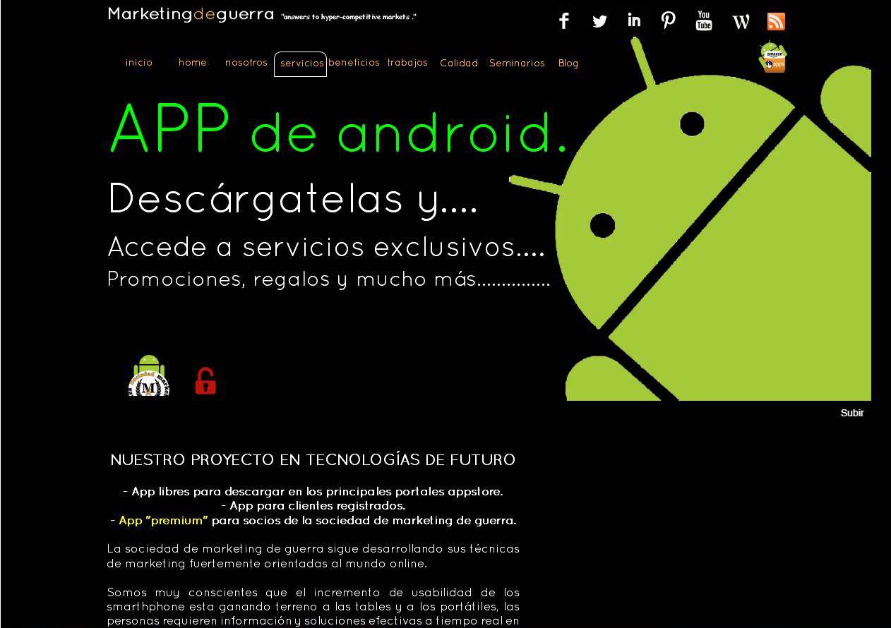 Pagina desarrollos android en marketingdeguerra.es