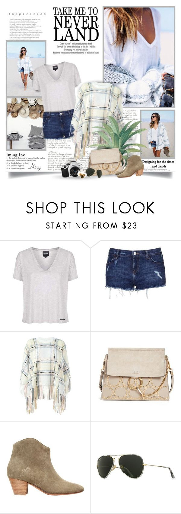 """""""Take Me To Never Land"""" by thewondersoffashion ❤ liked on Polyvore featuring Topshop, Chloé, Isabel Marant, Samsung, Ray-Ban, BloggerStyle, topshop, isabelmarant, chloe and sincerelyjules"""