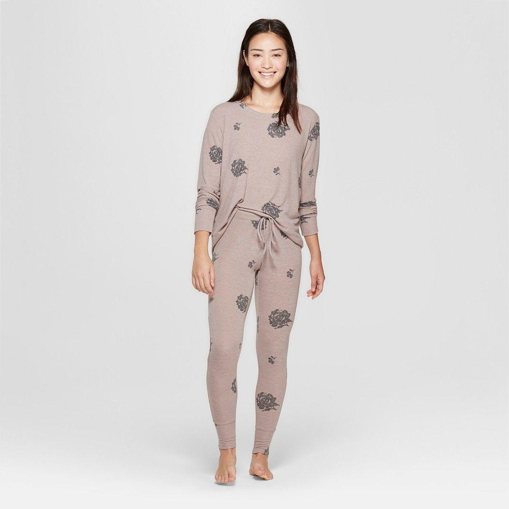 008d70700e69 Women s Cozy Pajama Set - Xhilaration Tan S