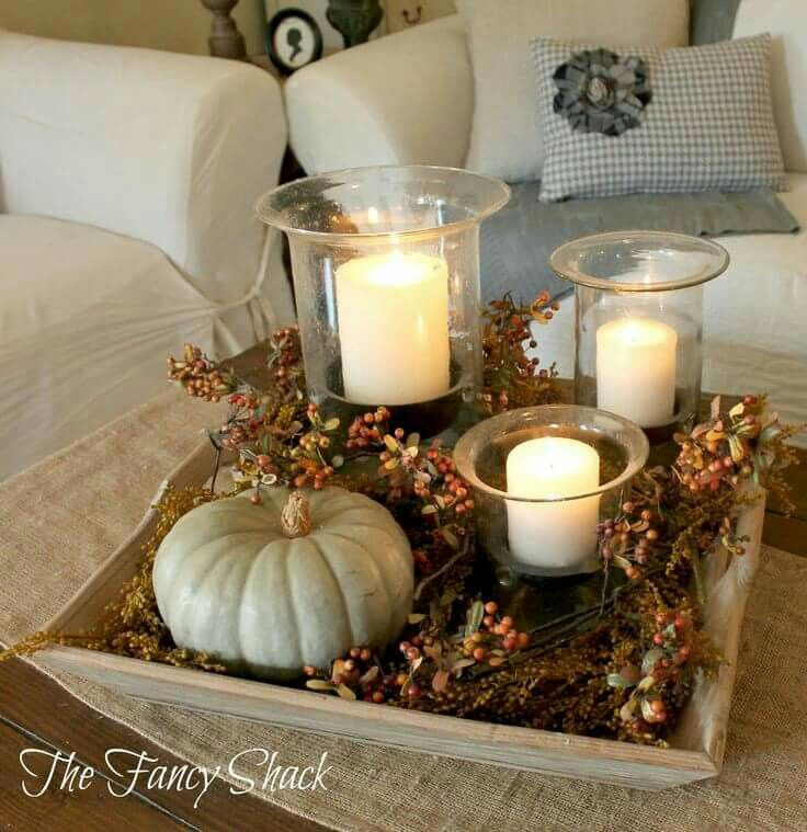 Tray Table Decor Ideas Table Decor  Fall  Pinterest