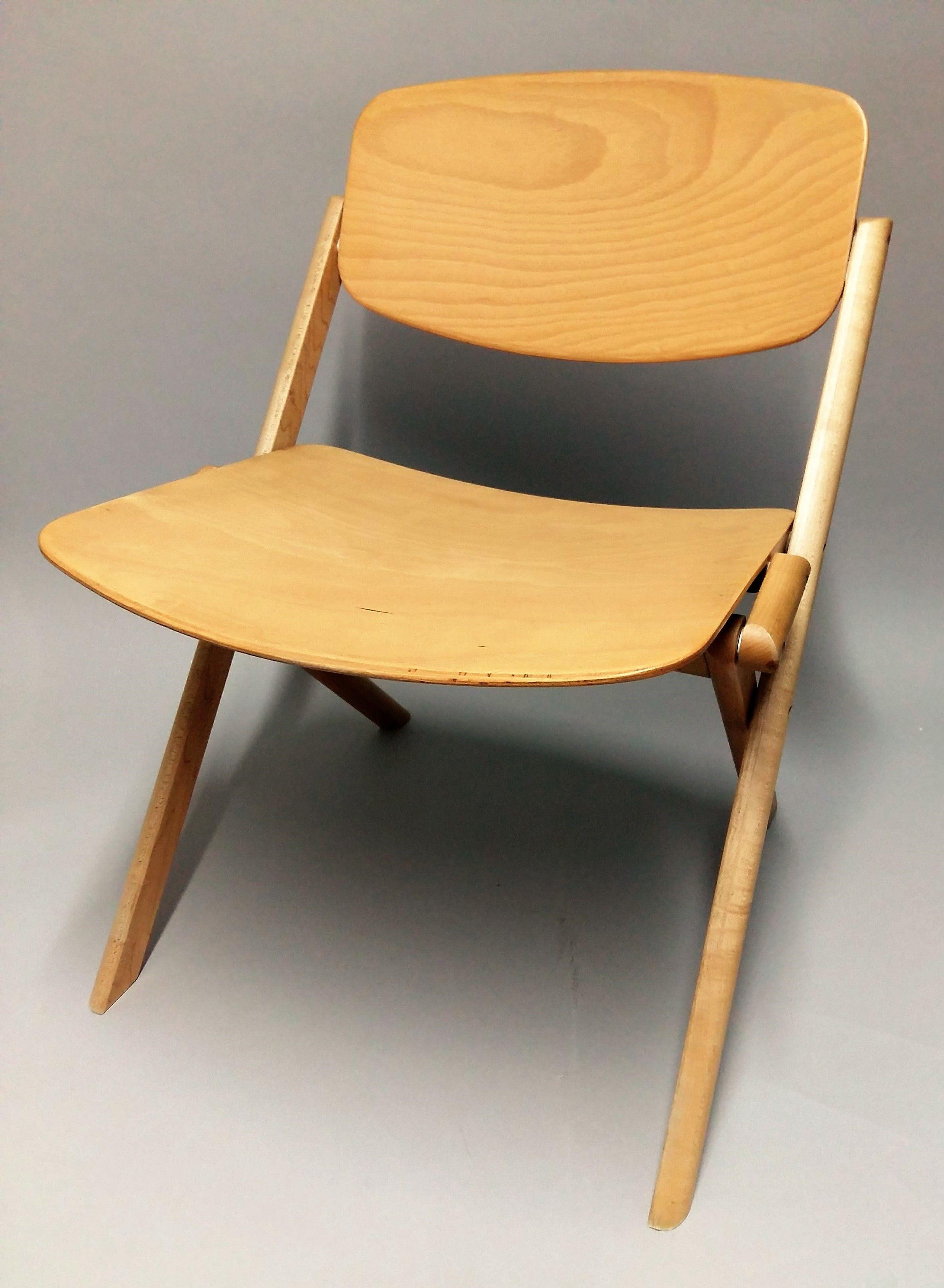 Jean Claude DUBOYS 1938 1999 Chaise Basse Pliante Circa 70