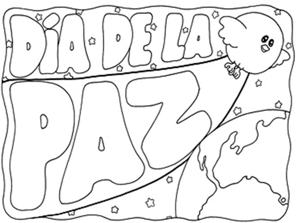 15colorearPaz  Dia de la paz  Pinterest  Da de la paz La paz