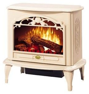 I Love This Electric Stove In Cream It Would Fit Just Right In A Master Bedroom Near A Set Of Cozy Si Electric Fireplace Heater Fireplace Heater Stove Heater