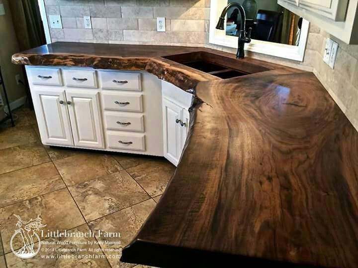 Image Result For Kitchen Counter Made Out Of Tree Logs  Log Captivating Kitchen Counter Top Design Inspiration