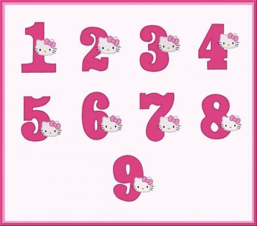 f564adb56 Kitty Single Birthday Numbers Machine Applique Design-NOT A SET |  Applicakes - Needlecraft on ArtFire