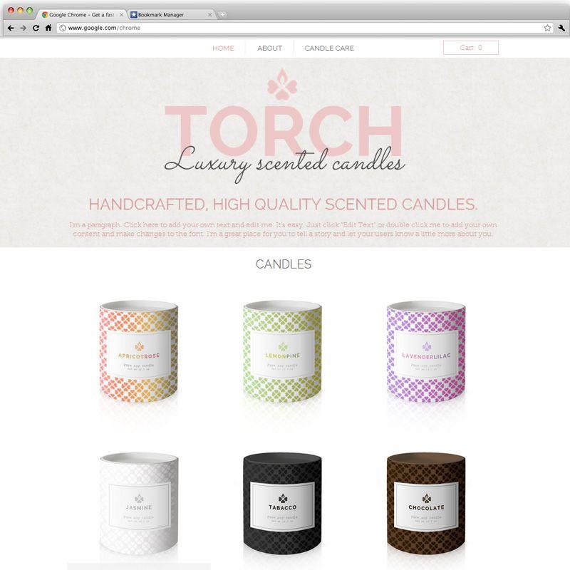 Candle Shop Template | Wix Website Templates | Pinterest | Template ...