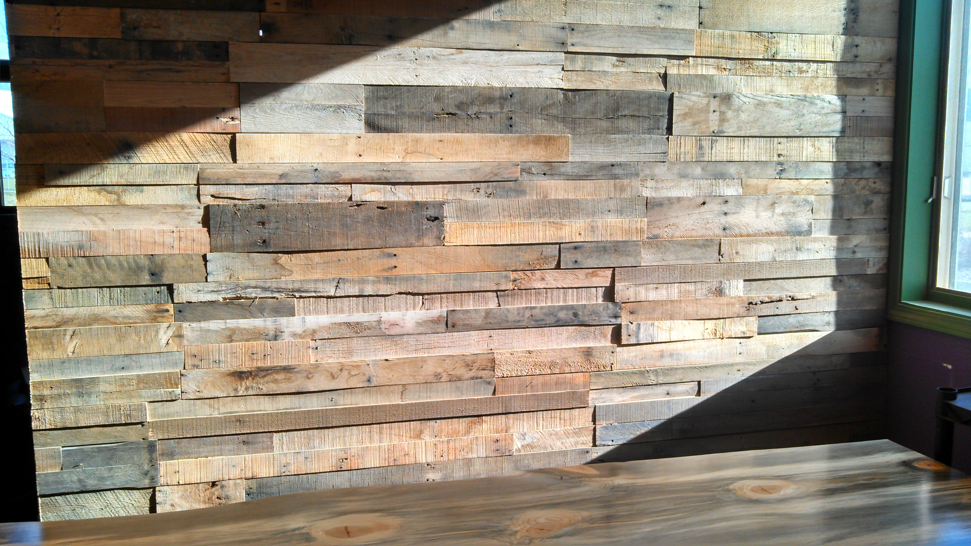 Pallet Walls In Restaurants Recycled Wood Wall Paneling