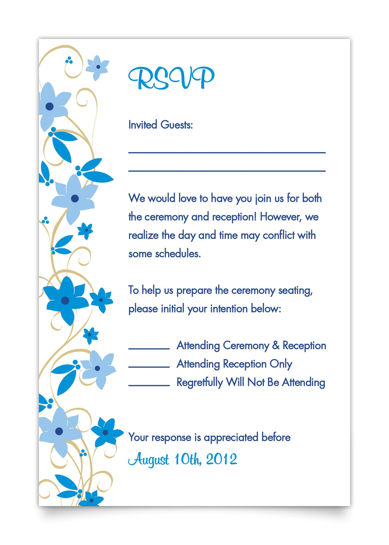 AdultsOnly Wedding Wording – Sample Rsvp Wedding Cards