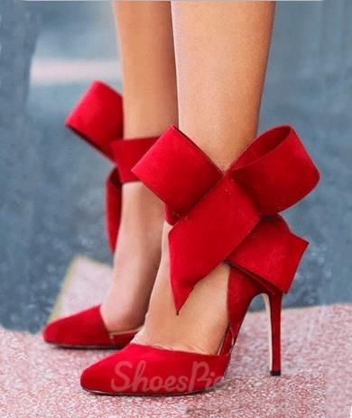 ebb65f5d26 Glaring Red Suede Pointed Toe High Heel Sandals with Amazing Bowtie Color: Red US Size:5.5-10 Material:Suede Decoration:Bowtie Types of Heels:Stiletto  Heels ...