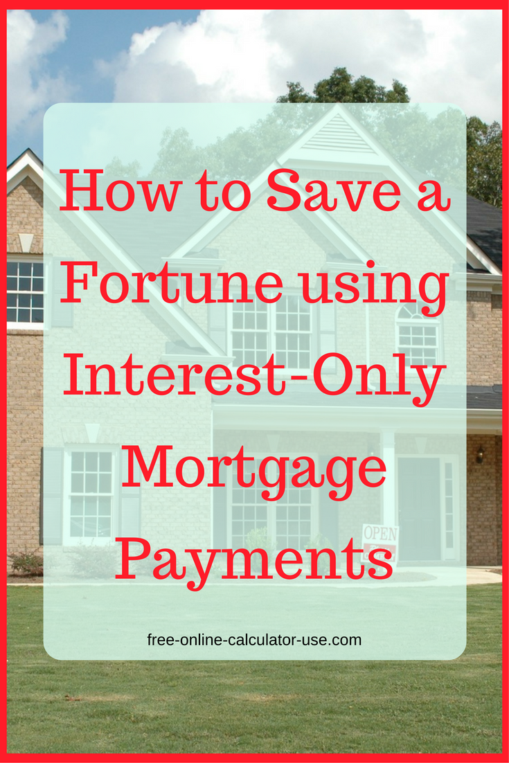 Interest Only Home Loan Calculator With Money Saving Idea Interest Only Mortgage Mortgage Payment Mortgage Payment Calculator
