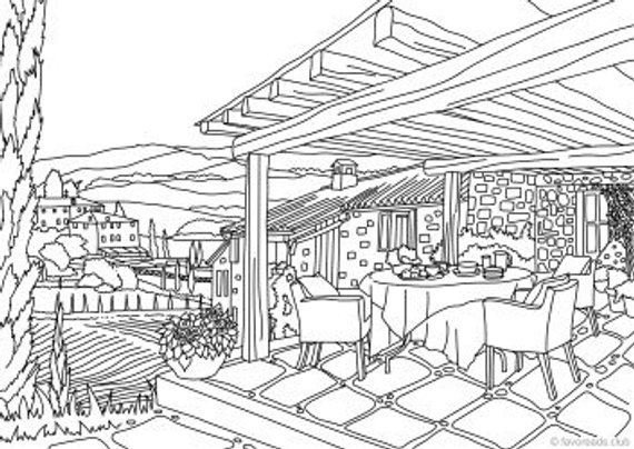 Italy Printable Adult Coloring Page From Favoreads Coloring