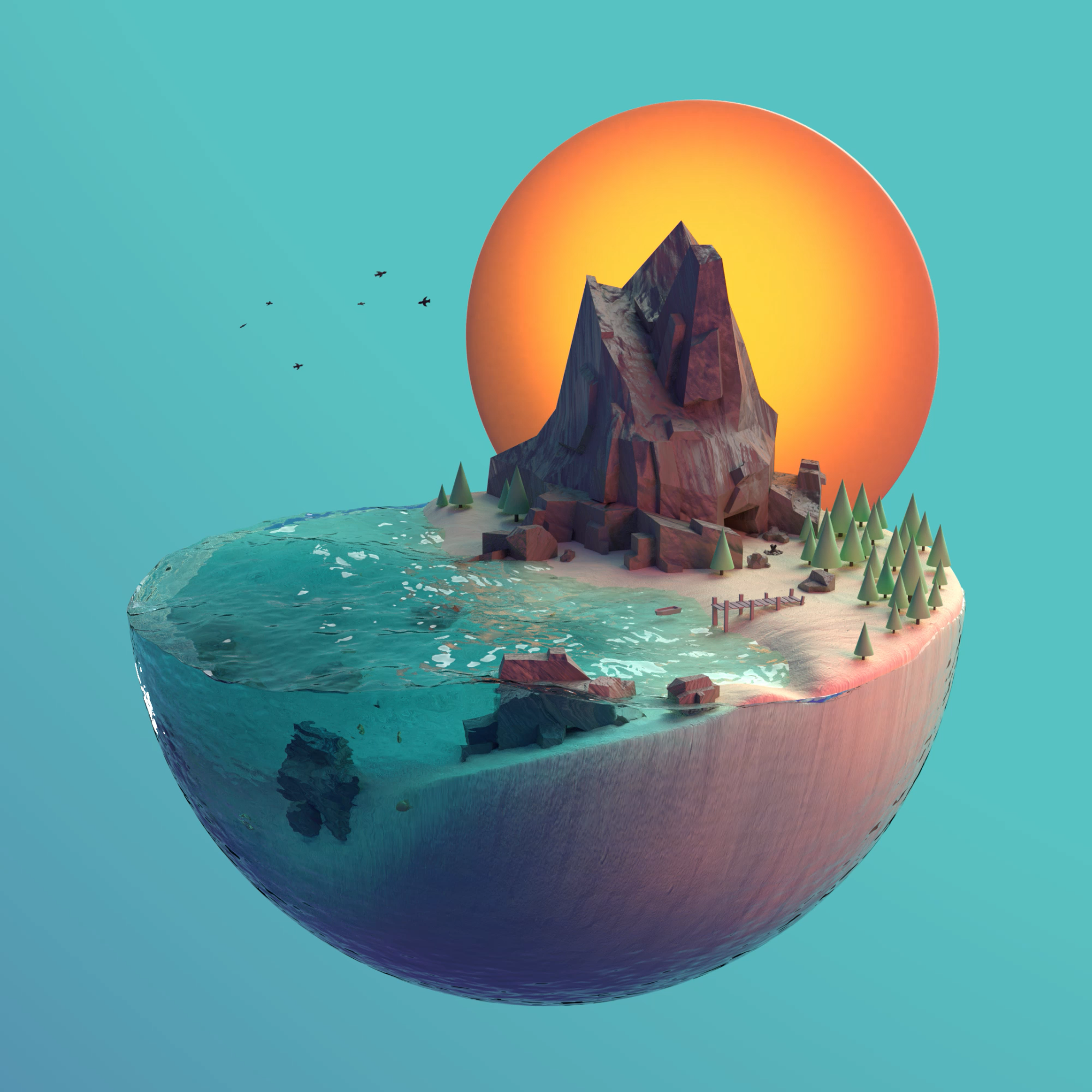 We can use custom 3D animation to create an entire world to help tell the story of your brand identity!