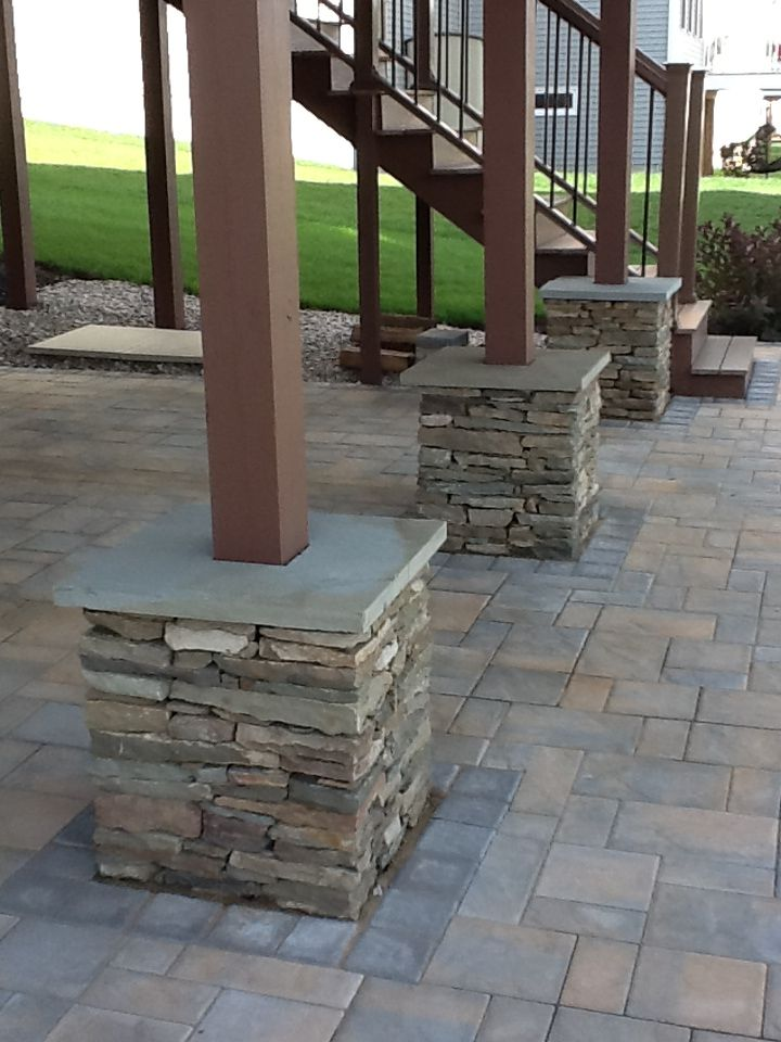 Natural Stone Columns Installed By