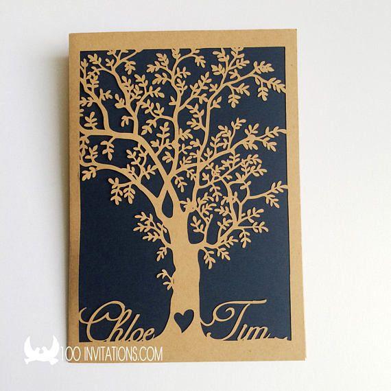 Laser Cut Tree Wedding InvitationsLaser Cut Wedding