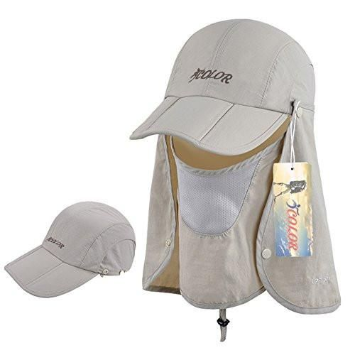 a9ad63f1c ICOLOR 360° Protection Folding Sun Hat, Flap Hats Man Women UPF 50+ ...
