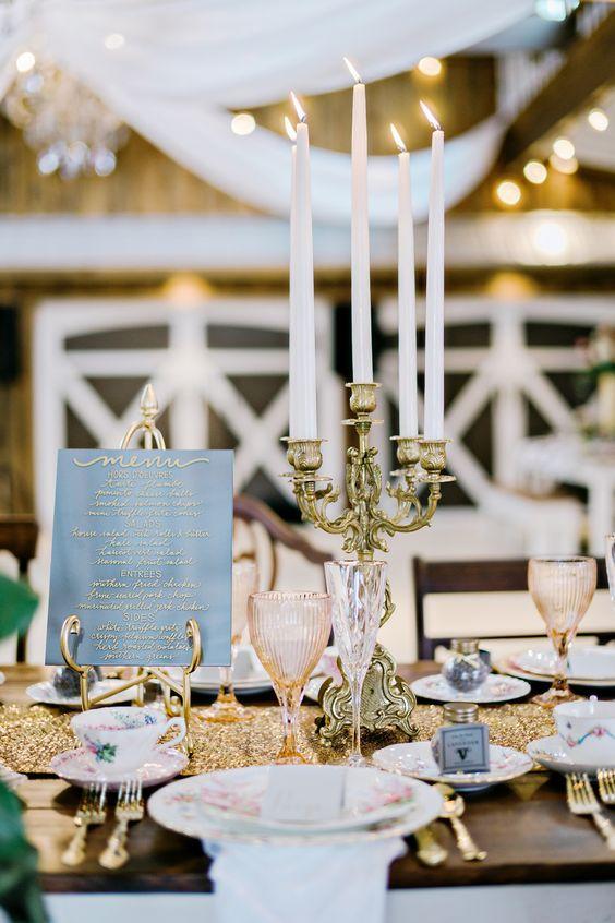 Vintage Gold Glam Wedding Reception Decor I Will Do That