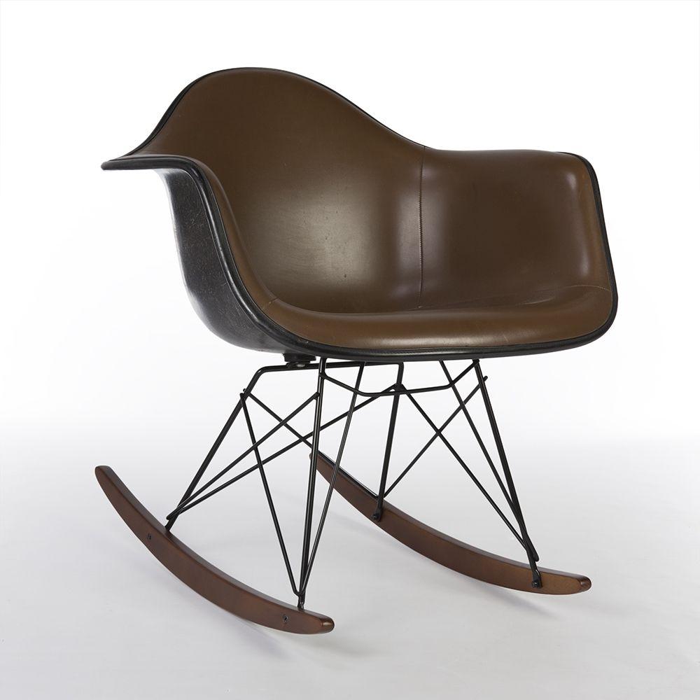 For sale brown herman miller original upholstered eames