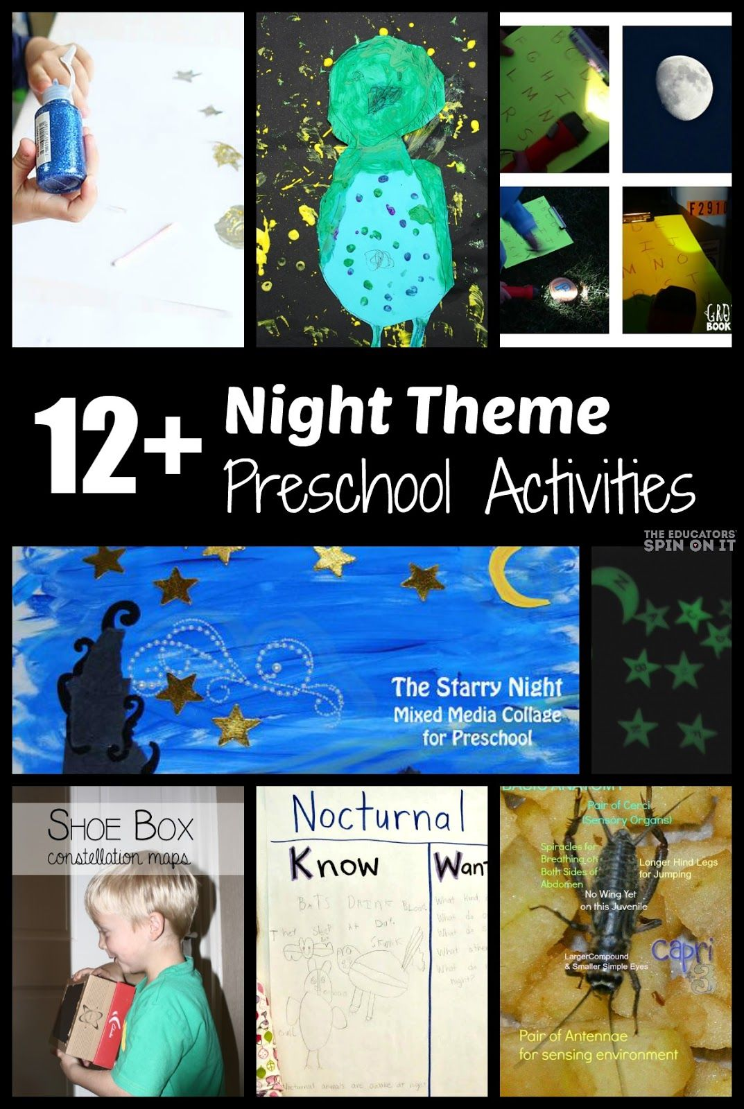 Nighttime Preschool Activities Night Owl Painting And
