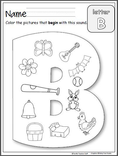 Beginning Sounds - Letter B