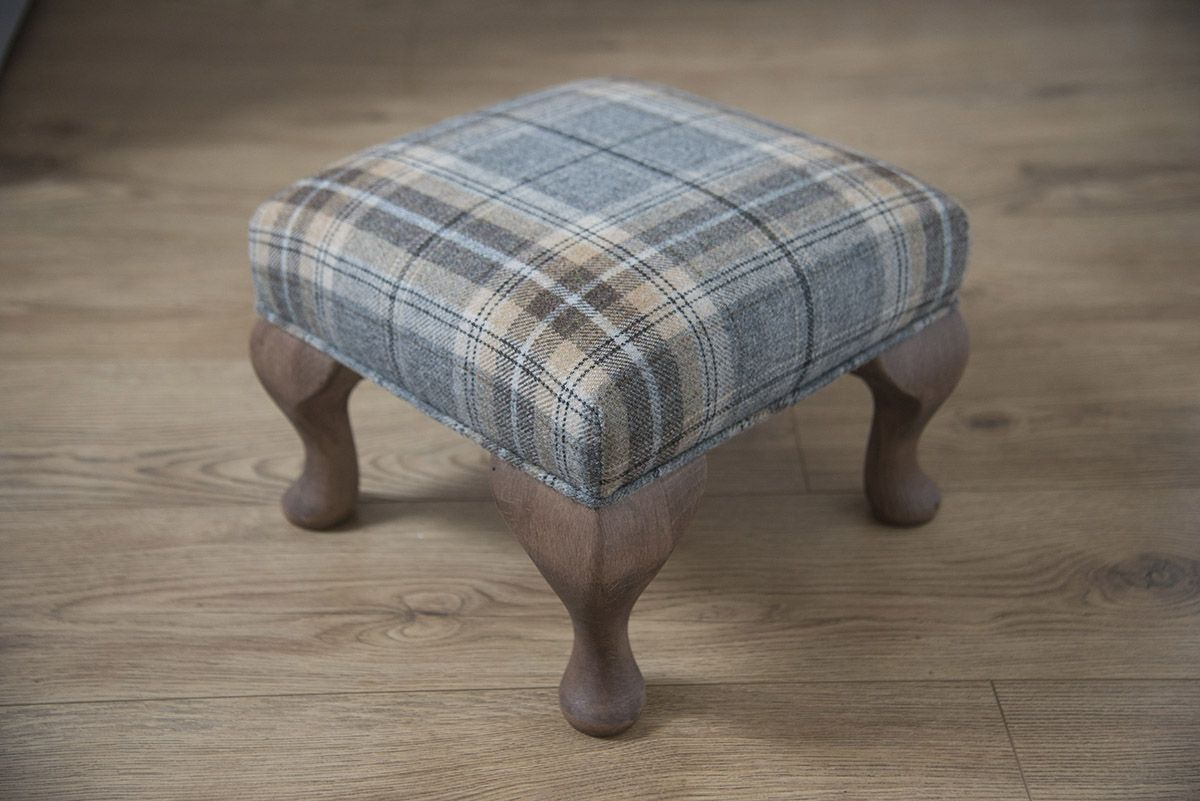 Florence Anne Balmoral Pewter Foostool Florence Anne The Home Of Elegant Footstools Small Footstool Footstool Diy Footstool