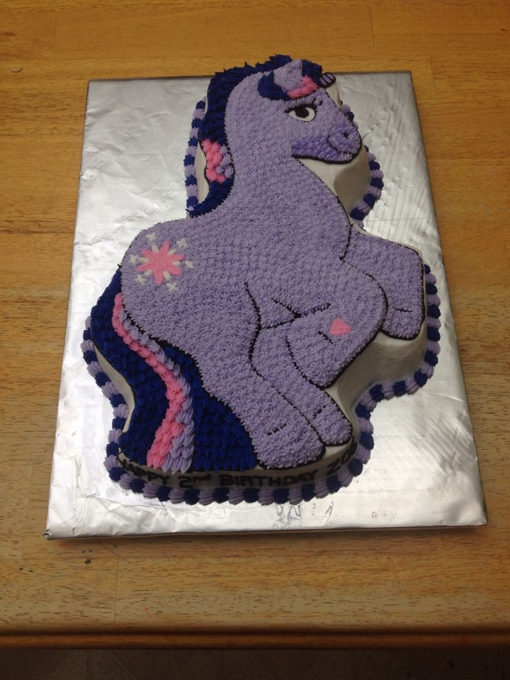 Twilight Sparkle My Little Pony Cake Made Using The Wilton Pan